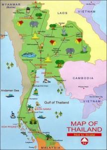 Карта Тайланда