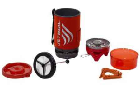 Купить JetBoil Flash™ With Coffee Press Tomato
