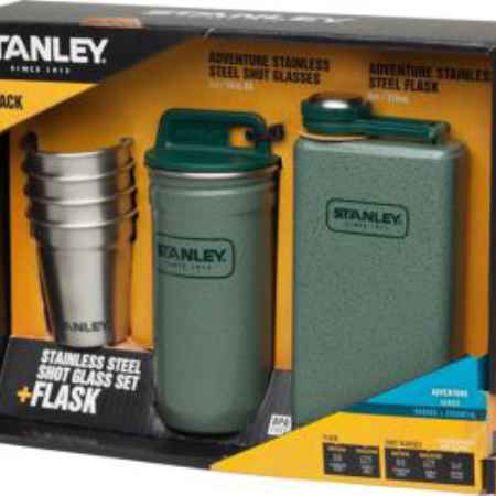 Купить Stanley Adventure Steel Shots+Flask Gift Set Hammertone Green